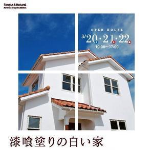漆喰塗りの白い家